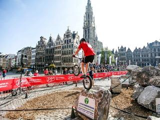 Trialfahrer in Antwerpen