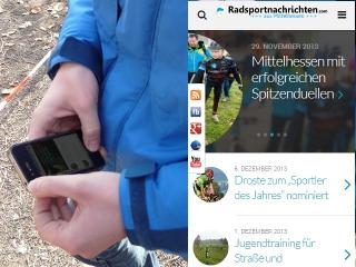 Ganz neu und doch vertraut: Die mobile Version von radsportnachrichten.com. Foto/Grafik: Dietel