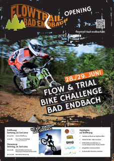 Plakat zur Eröffnung des Flowtrail Bad Endbach