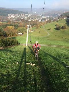 Skilift am Flowtrail Bad Endbach