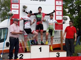 Podium Überherrn Straßenrennen 2015